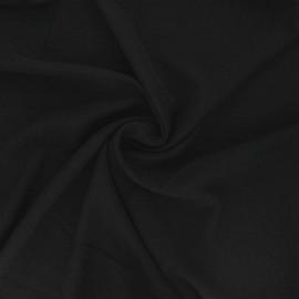 Tissu viscose plumetis brodé - noir x 10cm