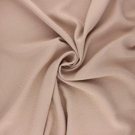 Tissu viscose plumetis brodé - sable x 10cm