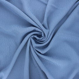 Viscose fabric with embroidered plumetis - bleuet x 10cm