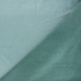 Suede fabric with fleece reverse - teal blue x 10cm