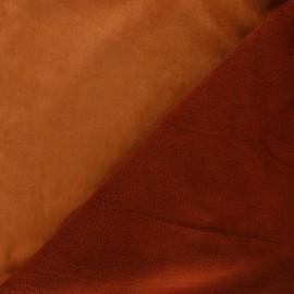 Suede fabric with fleece reverse - caramel x 10cm