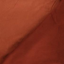 Tissu suédine envers polaire - rouille x 10cm
