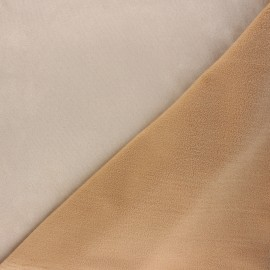 Tissu suédine envers polaire - beige x 10cm