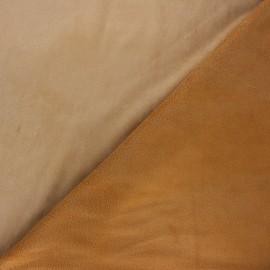 Tissu suédine envers polaire - camel x 10cm