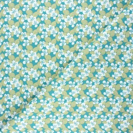 Tissu coton cretonne Carlota - vert paon x 10cm