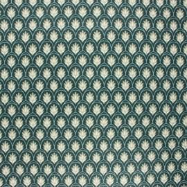 Tissu coton enduit Levi - vert sapin x 10cm