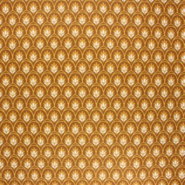 Coated cotton fabric - camel Levi x 10cm