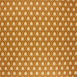 Tissu coton enduit Levi - camel x 10cm