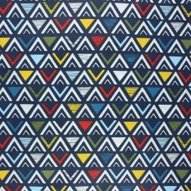 Coated cretonne cotton fabric - multicolor Triangular x 10cm