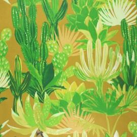Tissu coton cretonne enduit Mojaves - jaune curry x 10cm