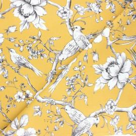 Tissu toile de coton Fauvette -jaune moutarde x 10cm