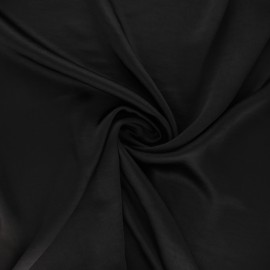Crushed satin fabric - black x 10cm