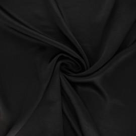 Tissu satin froissé - noir x 10cm