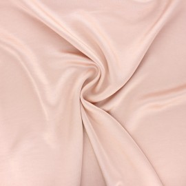Crushed satin fabric - pale pink x 10cm