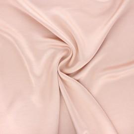 Tissu satin froissé - rose pâle x 10cm