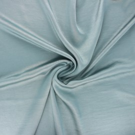 Crushed satin fabric - teal blue x 10cm