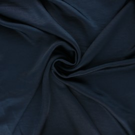 Crushed satin fabric - midnight blue x 10cm