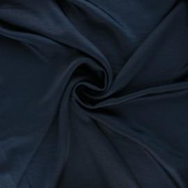 Tissu satin froissé - bleu nuit x 10cm