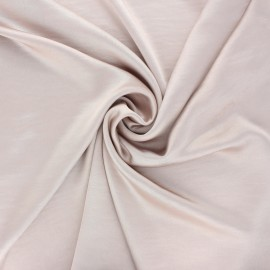 Crushed satin fabric - powder pink x 10cm