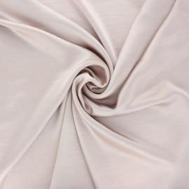 Tissu satin froissé - rose poudré x 10cm