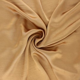 Crushed satin fabric - antique gold x 10cm