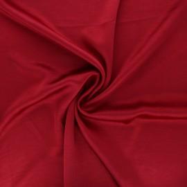 Tissu satin froissé - rouge carmin x 10cm