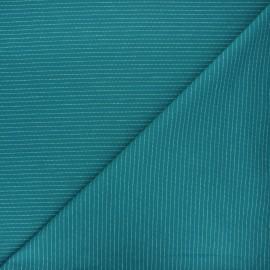 Jersey fabric - lagoon blue Delicate stripes x 10cm