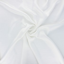 Crushed satin fabric - off-white x 10cm