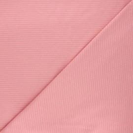 Tissu jersey Delicate stripes - rose thé x 10cm
