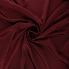 Crushed satin fabric - burgundy x 10cm