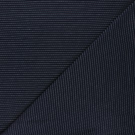 Tissu jersey Delicate stripes - bleu nuit x 10cm