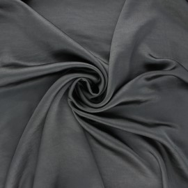 Crushed satin fabric - dark grey x 10cm
