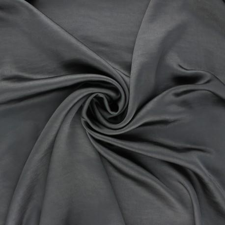 Crushed satin fabric - dark grey x 10cm