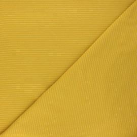 Jersey fabric - mustard yellow Delicate stripes x 10cm