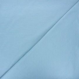 Jersey fabric - light blue Delicate stripes x 10cm