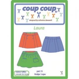 """Patron Coup Coup - Jupe enfant """"Laura"""""""