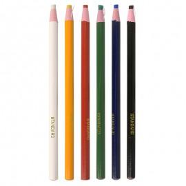 Cut free chalk pencil for fabrics - multicolor - 6 units