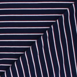 French terry fabric - navy blue Néréo x 10cm