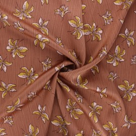 Elastane satin fabric Heavy satin stretch by Penelope® - camel Lys x 10cm