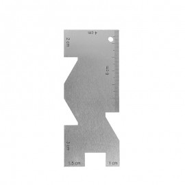 Metal seam gauge