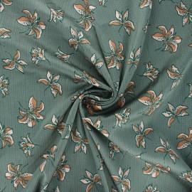 Elastane satin fabric Heavy satin stretch by Penelope® - grey green Lys x 10cm