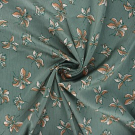 Tissu satin élasthanne Heavy satin stretch Lys by Penelope® - vert de gris x 10cm