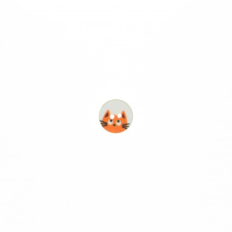 Polyester button - orange Chaton