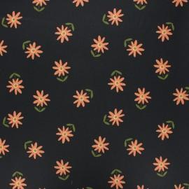 Tissu coton cretonne enduit Poppy Flower - noir x 10cm