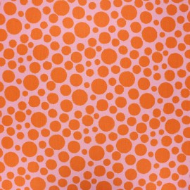 Poppy coated cretonne cotton fabric - parma Dots x 10cm