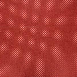 Tissu coton cretonne enduit Poppy Petit dots - tomette x 10cm