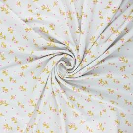 Tissu jersey modal fluide Poppy Flowers - gris clair x 10cm