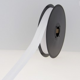 40 mm Poly Cotton Bias Binding Roll - White