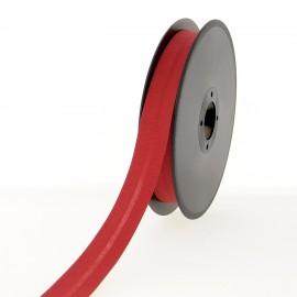 40 mm Poly Cotton Bias Binding Roll - Deep Red
