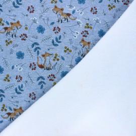 Sweatshirt with minkee fabric - mottled blue Le jardin de Barnabé x 10cm